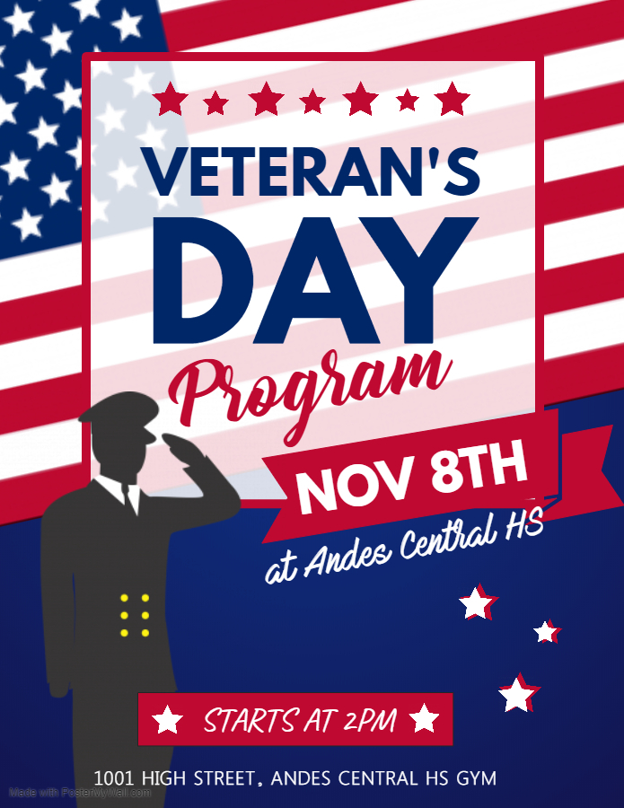 Veterans Day Program @ Andes Central School