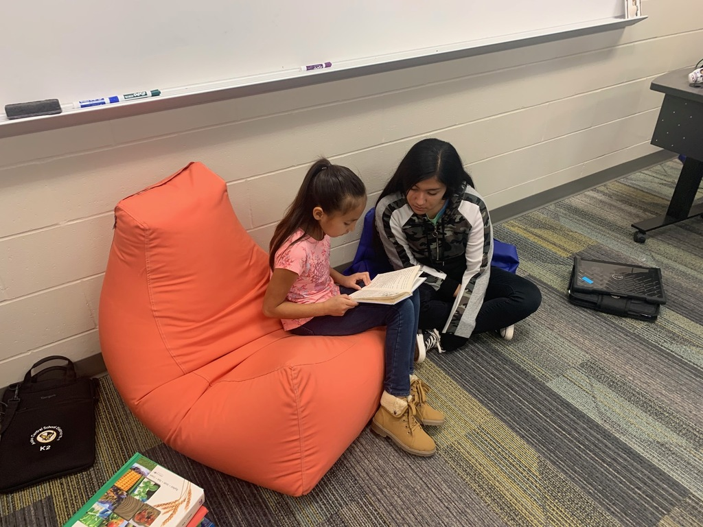 HS Students Reading to Elementary Students