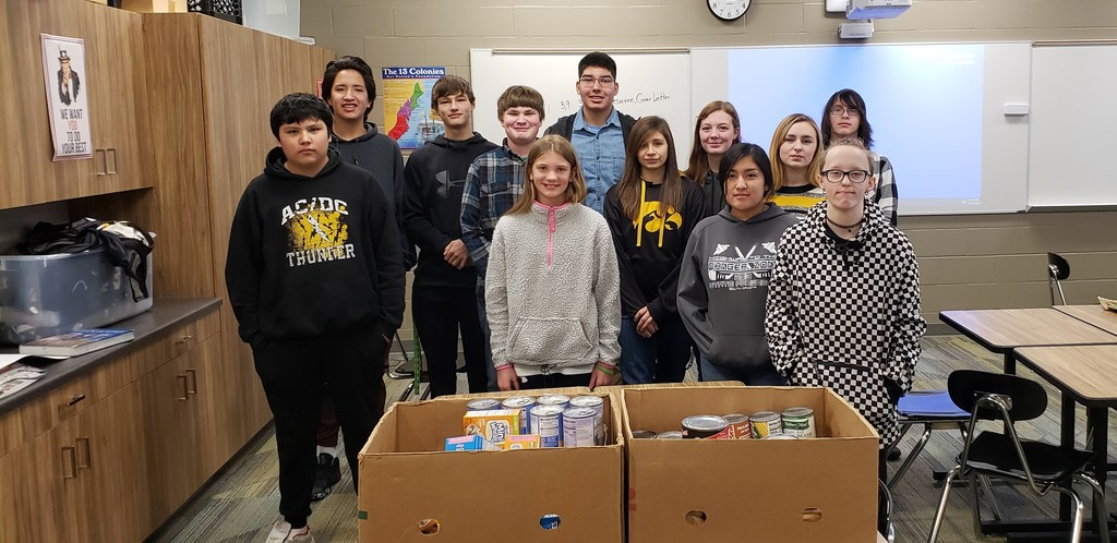 MS/HS Student Food Council Food Drive