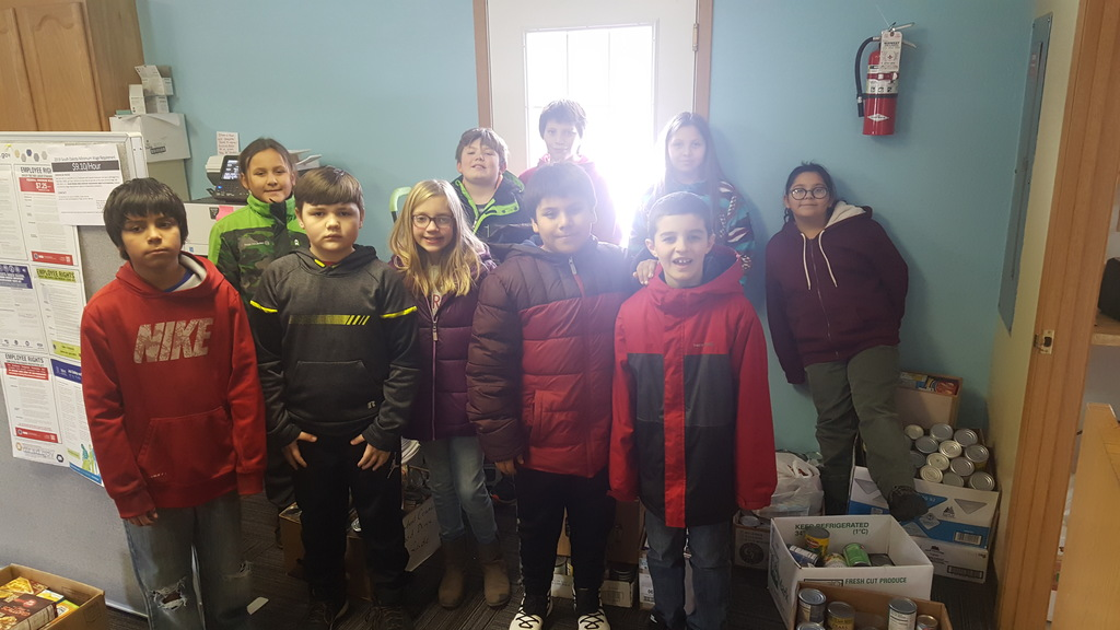 ACE Student Council Delivered Canned Food to the ROCS Office