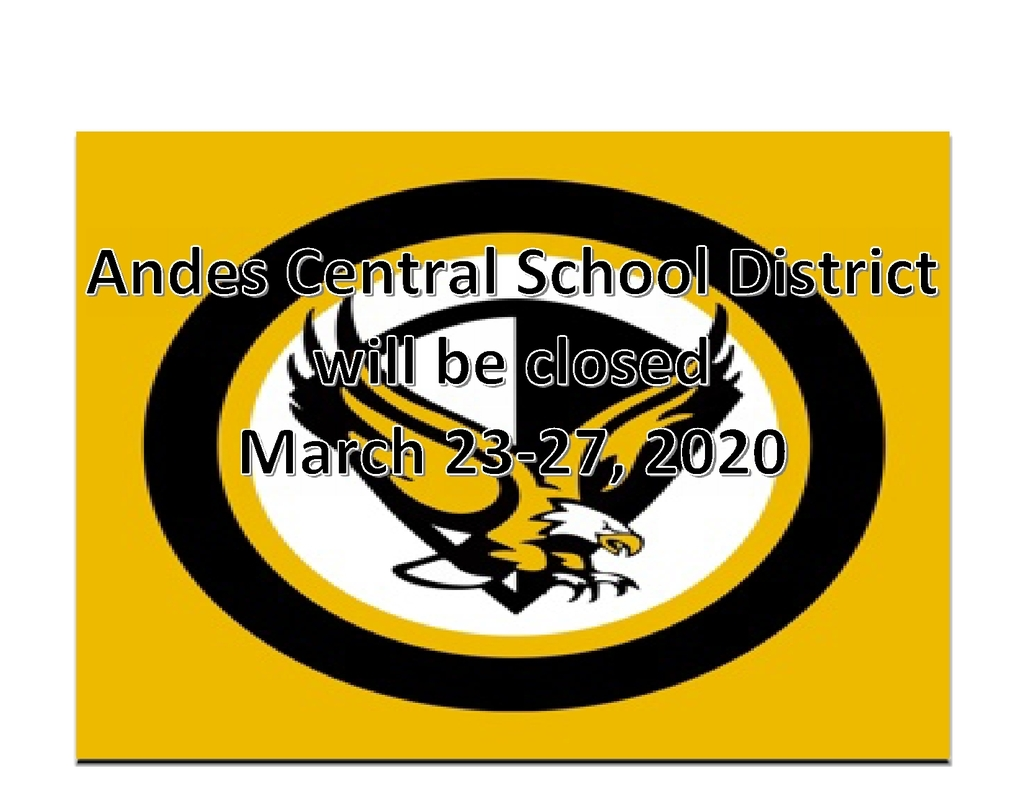 School Closed March 23-27, 2020